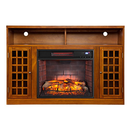 With A Realistic Flame And Logs, This Beautiful Electric Fireplace Is The  Perfect Appliance To Use If You Have An Unused Place In Your Home.